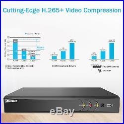 ANNKE 4K 8CH DVR 5MP HD IR 3D DNR CCTV Home Security Camera Alert System +0-4TB