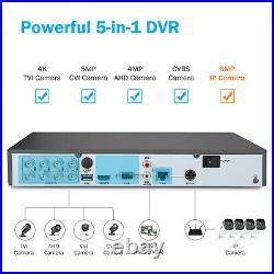 ANNKE 8CH 8MP DVR 4K Security Camera System CCTV EXIR Night Vision H. 265+ Onvif