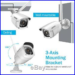 ANNKE Wireless 8CH NVR 1080P Video Outdoor WIFI CCTV Security IP Camera System