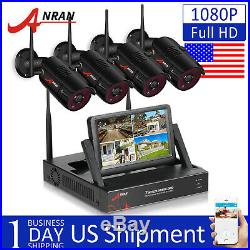 ANRAN 1080P Security Camera System Wireless Home 4CH 7Monitor Outdoor NVR CCTV