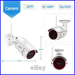 ANRAN 2 Way Audio Security Camera System Wireless Outdoor 1080P CCTV 8CH NVR 1TB