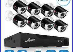ANRAN 8CH 1080P AHD DVR 83200TVL Outdoor Security Video Home CCTV Camera System