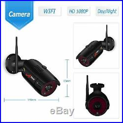 ANRAN Outdoor Wireless Security Camera System 1080P with 4CH 7''Monitor NVR CCTV