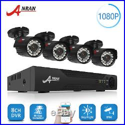 ANRAN 8CH HD AHD DVR 1080P Home Outdoor Night Vision CCTV System Security Camera