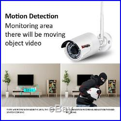 Anspo 8CH Wireless 1080P NVR Outdoor Home WIFI Camera CCTV Security System Video