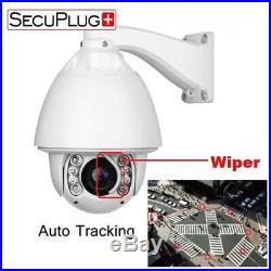 Auto Tracking 1200TVL HD Pan/Tilt Outdoor 30X Zoom PTZ IR Dome CCTV Camera IR US