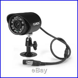 FLOUREON 1080N 1500TVL CCTV Security Camera HD 8CH DVR Video In/Outdoor System