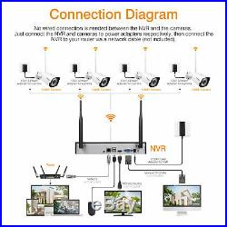 FLOUREON 1080P Home Security Camera System Wireless Outdoor CCTV 8CH NVR 1TB HDD