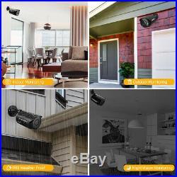 FLOUREON 4CH 1080P DVR Security CCTV IP Camera System Kit Outdoor Night Vision
