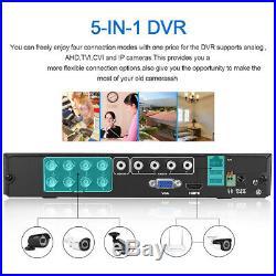 FLOUREON 8CH 1080N CCTV AHD DVR Set Outdoor 3000TVL 1080P 2.0MP Security Camera