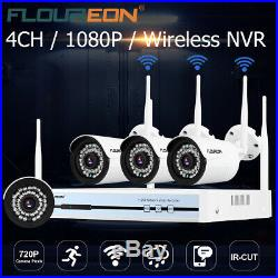 Floureon 4CH 1080P DVR NVR IR CUT CCTV WIFI Surveillance Security Camera System