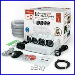Foscam 4x 720P PoE IP Camera 8CH Pre-Installed 1TB HDD Security CCTV NVR Kit P2P