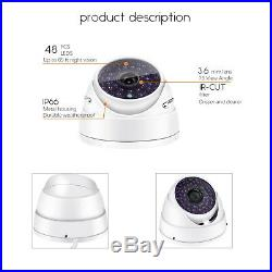 H. 265 8CH POE HD 4.0MP NVR 6X 1080P 48IR LED Dome IP Camera CCTV Security System