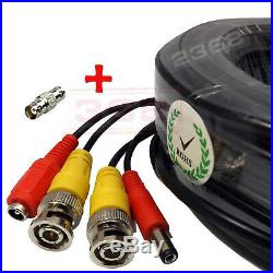 High Quality Video Power BNC RCA Cable fit Night Owl CCTV Security Cameras 100ft