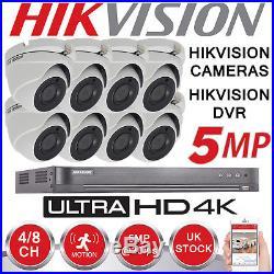 Hikvision 5mp Cctv System 4k Uhd Dvr 4ch 8ch Hd Outdoor
