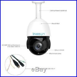 Inesun 1080P 2MP 4-in-1 HD AHD/TVI/CVI/CVBS PTZ Speed Dome Camera IR Waterproof