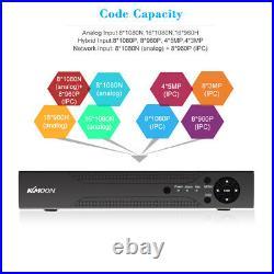 KKmoon 16 Channel 1080P NVR 5In1 DVR 8720P CCTV Camera Security System Kit US