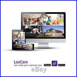 Loocam 1080P 8CH HD DVR CCTV Surveillance Security Camera System with 2TB HDD