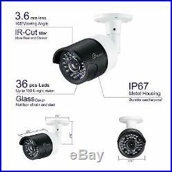 Loocam 16CH 1080P DVR CCTV Security Camera System 2TB HDD Night Vision