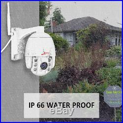 Pan/Tilt 1080P WIFI Wireless IP Camera Security System CCTV Outdoor 2-way Audio