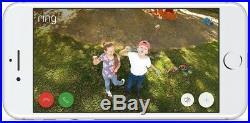 Ring Spotlight Cam Solar Outdoor Security Wireless Surveillance Camera White NEW