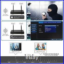 Rraycom WiFi IP Camera 8CH Wireless 1080P NVR Home Security CCTV System NO HDD a