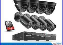 SANNCE 1080N CCTV 8CH DVR 720P HD IR Night Vision Security TVI Camera System 1TB