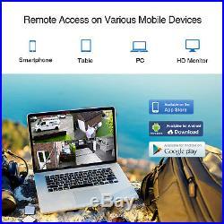 SANNCE 1080P HDMI 8CH/4CH CCTV DVR 720P Outdoor IR Home Security Camera System