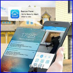 SANNCE 1080P HDMI 8CH DVR 1500TVL 720P IR Night Day CCTV Security Camera System