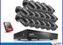 SANNCE 16CH 1080P HDMI 5in1 HD DVR 1500TVL IR CCTV Security Camera System APP US