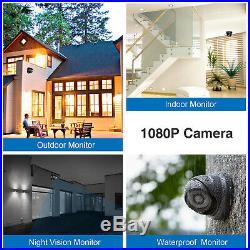 SANNCE 3000TVL HD 4CH 1080P DVR Outdoor CCTV Security Camera System Night Vision