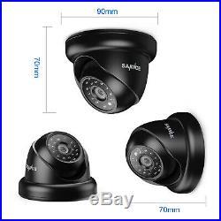 SANNCE 4CH 1080P CCTV DVR 1500TVL HD IR Outdoor Home Security Camera System APP