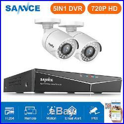SANNCE 4CH 1080P HDMI DVR 720P 1500TVL IR CUT CCTV Security