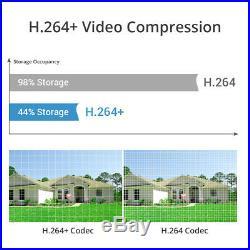 SANNCE 4CH 8CH 1080P HDMI DVR 2MP Outdoor CCTV IR Security Camera System H. 264+
