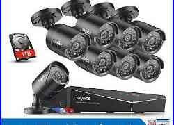 SANNCE 4CH / 8CH 1080P HDMI DVR 720P 1500TVL CCTV IR Security Camera System 1TB