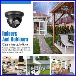 SANNCE 8CH 1080P HDMI DVR HD 1500TVL CCTV Security Camera System IR Night Vision