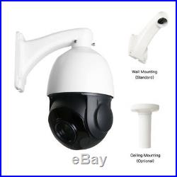 SONY CMOS 1200TVL HD Pan/Tilt Outdoor 30X Zoom PTZ IR Dome CCTV Camera +Joystick