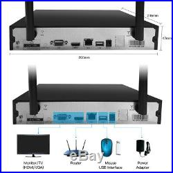 SmartSF 8CH 1080P NVR Wireless Security Camera System 720P Outdoor Video CCTV US