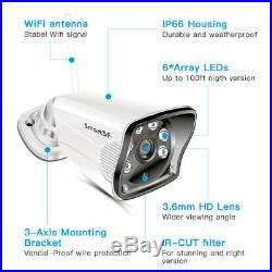 SmartSF Wireless 8CH NVR Security Camera System Outdoor CCTV Home Surveillance