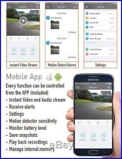 Solar Powered Wireless Outdoor WIFI IP Surveillance Camera Audio CCTV System