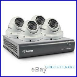 Swann 8ch CCTV Security System DVR 1TB HDD/4x 720p Dome Night Vision Cameras