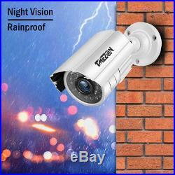 TMEZON 4CH 1080N CCTV DVR 1500TVL HD IR Outdoor Home Security Camera System APP