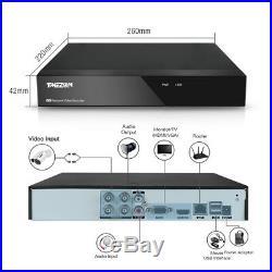 TMEZON 4CH 720P CCTV Camera System HDMI Home Outdoor Security DVR IR Night Kit