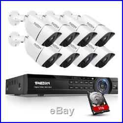 TMEZON Ultra 4K Camera System 8CH HD DVR Home Outdoor 8MP CCTV Security Kit 1TB