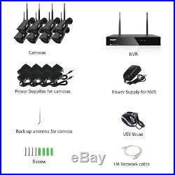 TMEZON Wireless Camera 1080P 8CH WiFi HDMI NVR Home Outdoor CCTV Security System