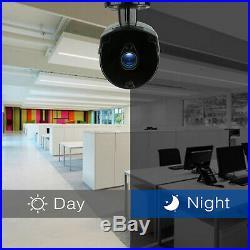 Tmezon Wireless Security Camera System 1080P 8CH WIFI NVR Outdoor Night CCTV Kit