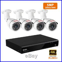 Tonton 8CH 4K DVR 5MP Camera Home CCTV Security System Outdoor HD 130ft Night