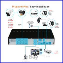 Tonton 8CH 4K DVR 5MP Camera Home Outdoor CCTV Security System PIR Sensor Motion
