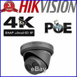 Ultra Hd 4k 8mp Camera Hikvision Ip Poe Cctv Ds-2cd2383g0-i Turret Nightvision