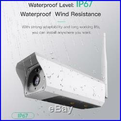 WIFI Waterproof Outdoor 1080P 2M Solar Battery Power CCTV Camera Video Recorder